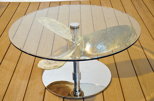 Ship's Propeller Coffee Table (round top)